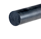Nylon 6 Black Rod 10mm dia x 500mm