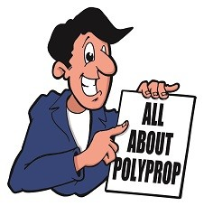 Polypropylene; it aint heavy